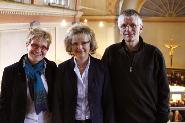 Leitungsteam im Gemeinderat: Maria Schmale, Doris Kanzer und Alexander Thöne