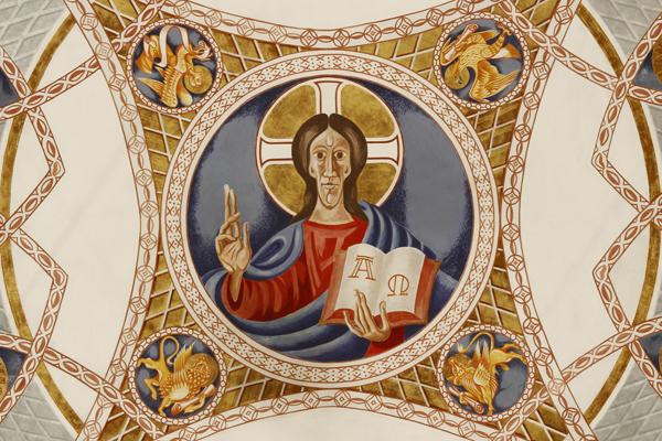Vierungskuppel mit Christus im Zentrum