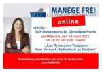 MANEGE FREI – online mit Christiane Florin am 14.4.2021