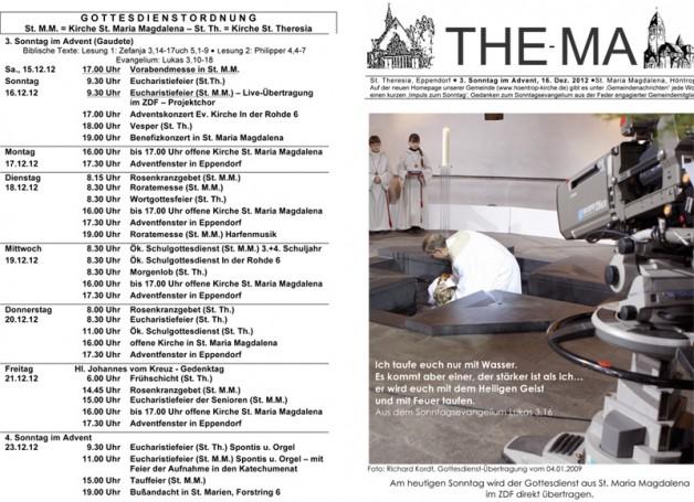 The-Ma zum 3. Sonntag im Advent (16.12.2012)