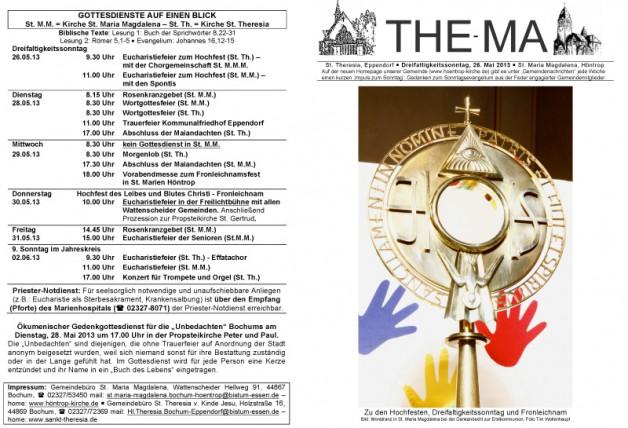 The-Ma zum Dreifaltigkeitssonntag 2013 (26.05.2013)