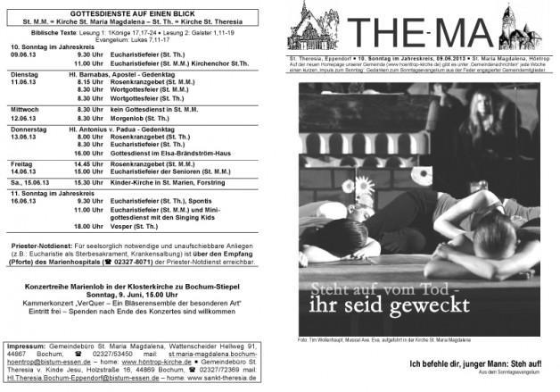 The-Ma zum 10. Sonntag im Jahreskreis 2013