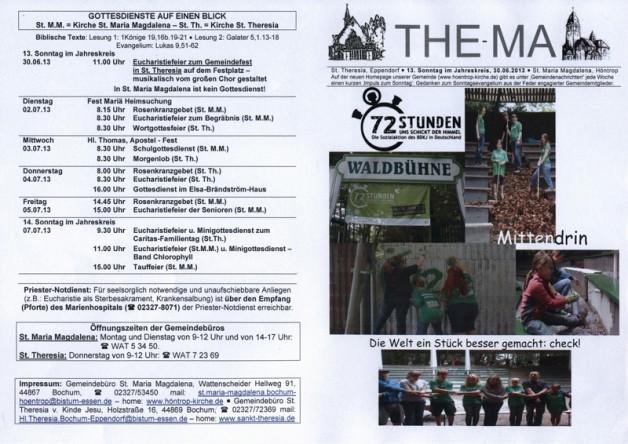 The-Ma zum 13. Sonntag im Jahreskreis 2013