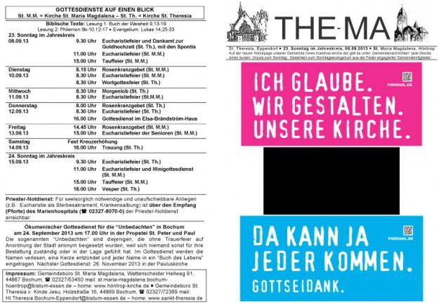 23. Sonntag im Jahreskreis, 08.09.2013