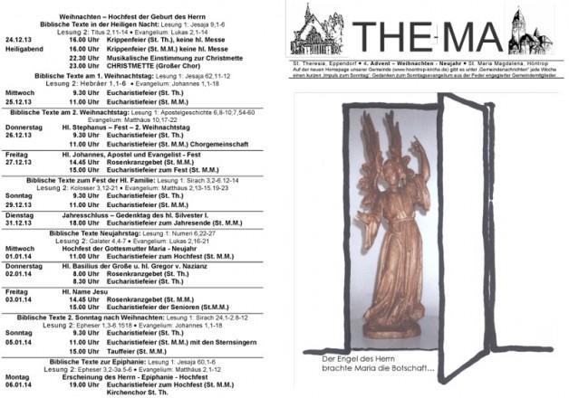 The-Ma für 4. Advent • Weihnachten • Neujahr 2013