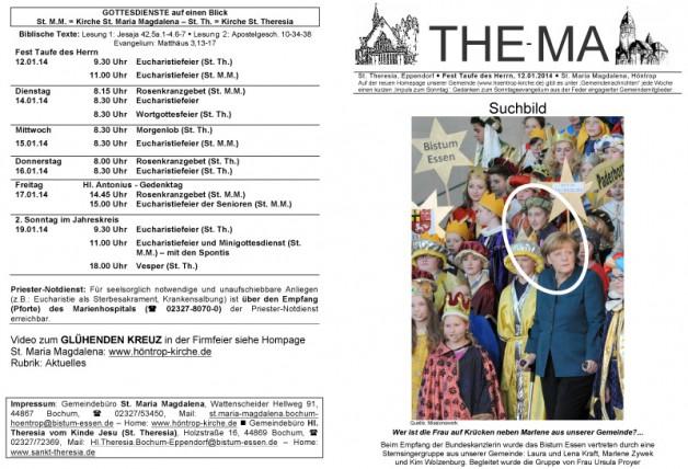 The-Ma zum Fest der Taufe des Herrn (12.01.2014)