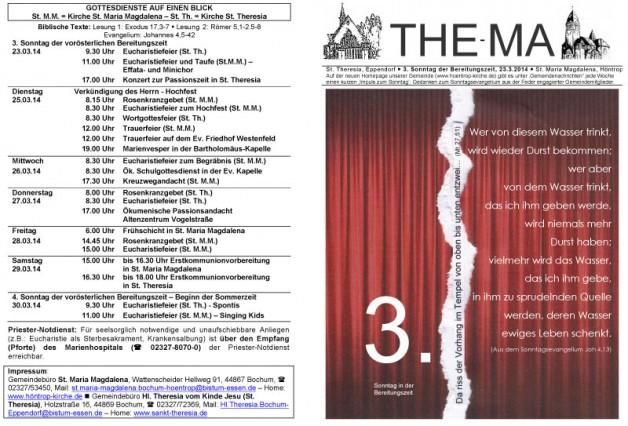 The-Ma zum 3. Sonntag der Bereitungszeit (23.3.2014)