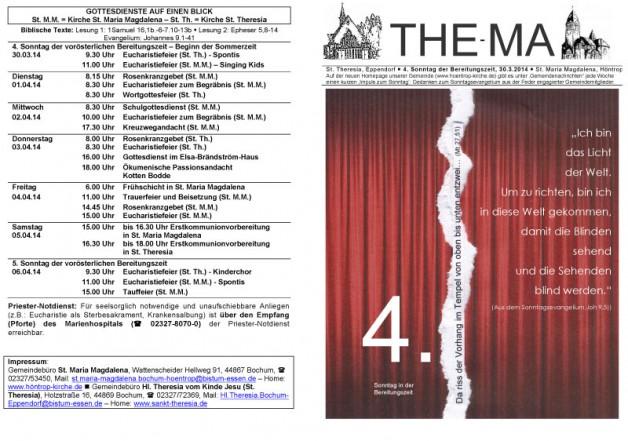 The-Ma zum 4. Sonntag der Bereitungszeit (30.3.2014)