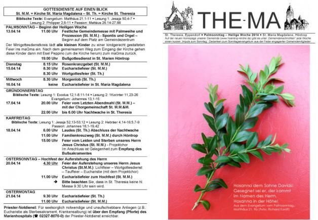 The-Ma zum Palmsonntag – Heilige Woche 2014 (13.4.2014)