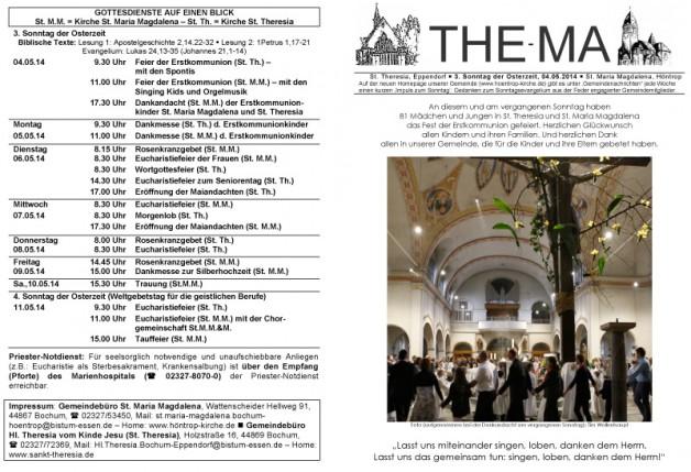 The-Ma zum 4. Sonntag der Osterzeit 2014 (04.05.2014)