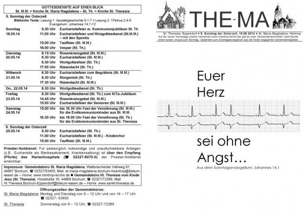 The-Ma zum 5. Sonntag der Osterzeit 2014 (18.05.2014)