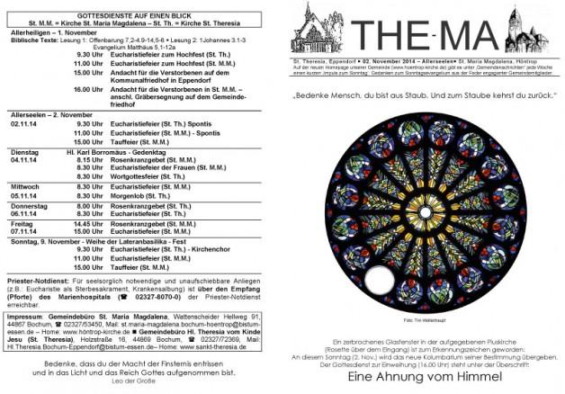 The-Ma zum 31. Sonntag im Jahreskreis 2014 (02.11.14)