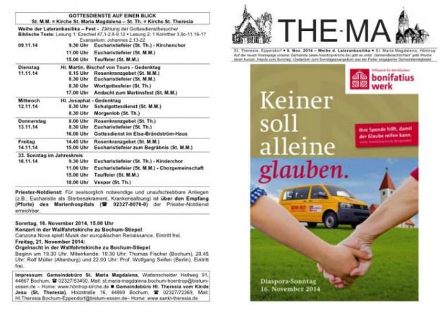 The-Ma zum 32. Sonntag im Jahreskreis 2014 (09.11.14)