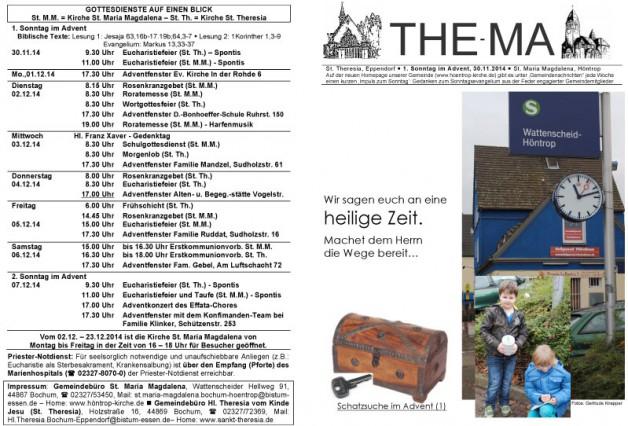 The-Ma zum 1. Advent 2014 (30.11.14)