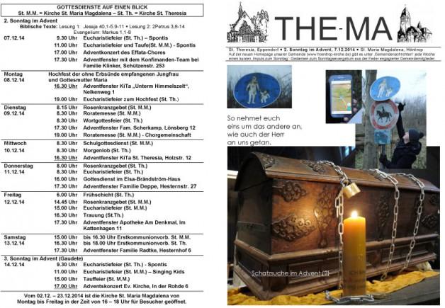 The-Ma zum 2. Advent 2014 (07.12.14)