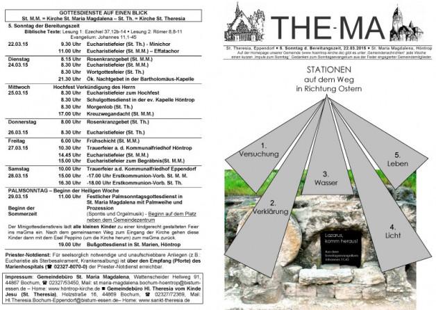 The-Ma zum 22. März 2015