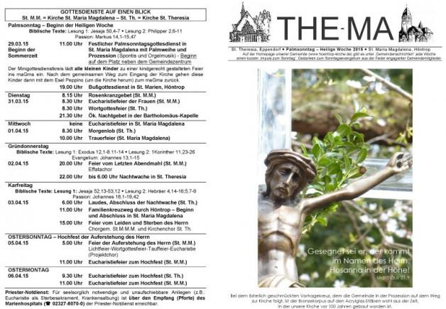 The-Ma zum 29. März 2015 (Ostern)