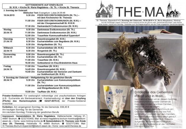 The-Ma zum 19. April 2015