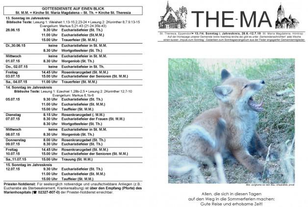 The-Ma zum 28. Juni 2015