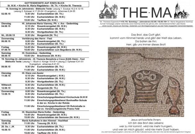 The-Ma vom 12.07. bis 26.07.2015