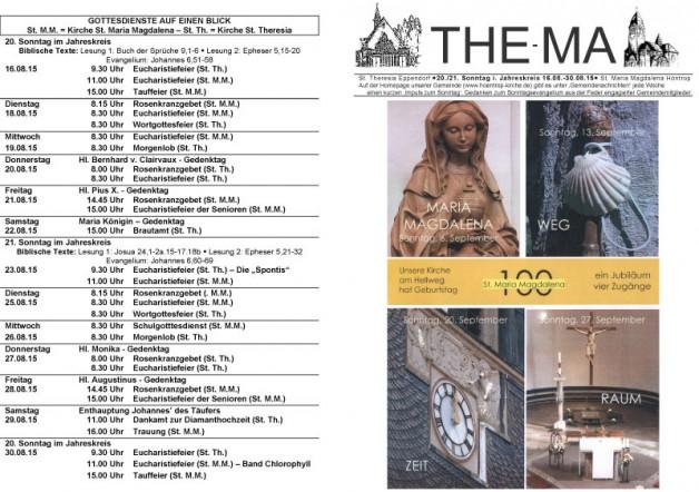 The-Ma vom 16.08 bis 30.08.2015