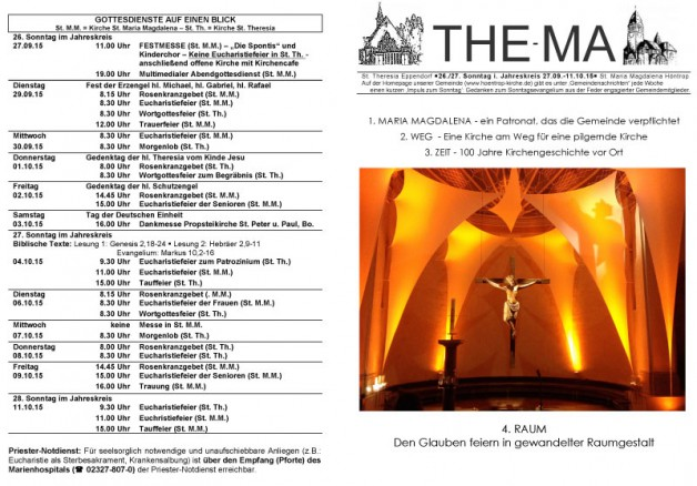 The-Ma vom 27.09. bis 11.10.2015