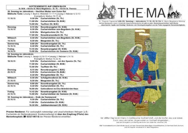 The-Ma vom 11.10. bis 25.10.2015