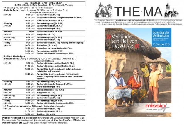 The-Ma vom 25.10. bis 08.11.2015