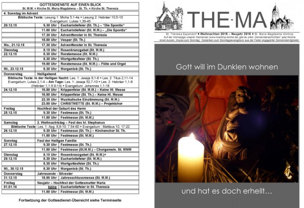 The-Ma vom 20.12.2015 bis 10.01.2016