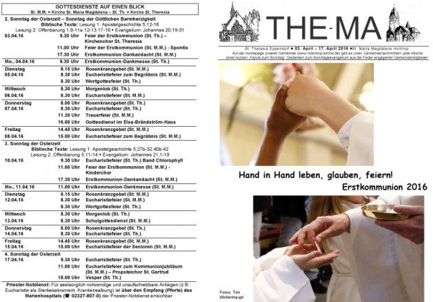 The-Ma vom 03.04. bis 17.04.16