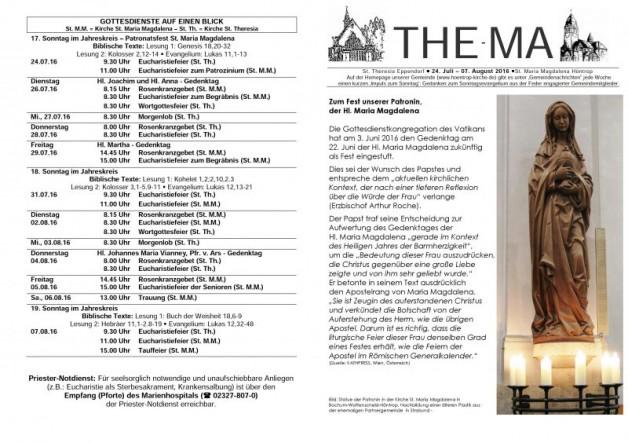 The-Ma vom 24.07. bis 07.08.16
