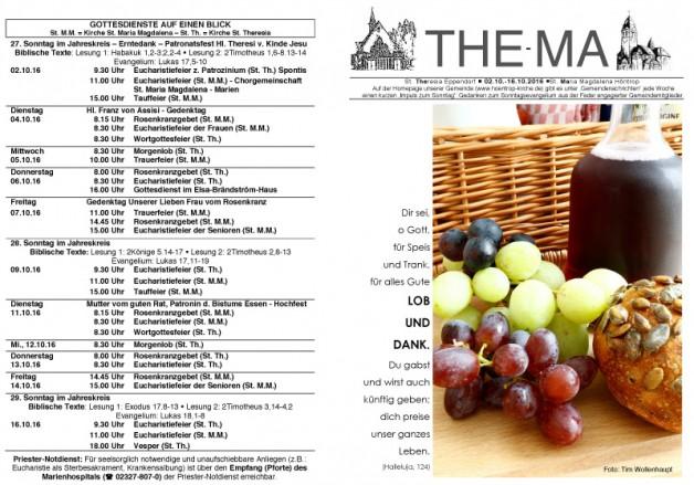 The-Ma vom 02.10. bis 16.10.16