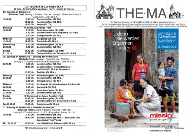 The-Ma vom 16.10. bis 06.11.16