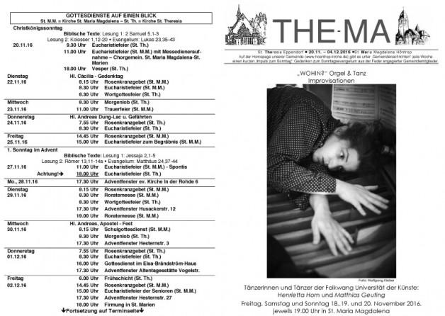 The-Ma vom 20.11. bis 04.12.16