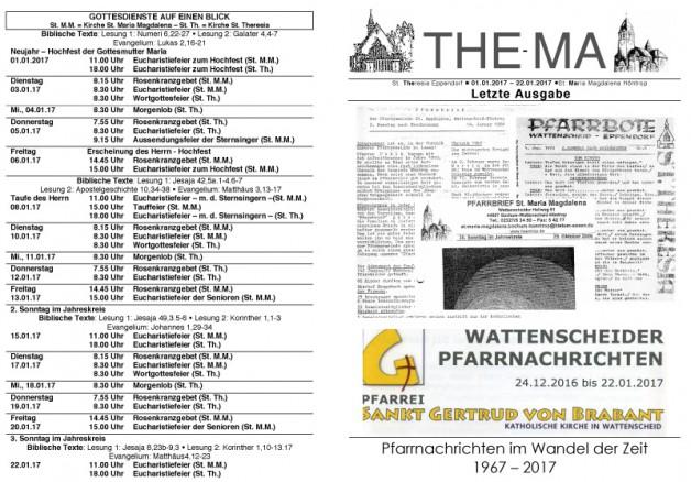 Letzte Ausgabe des The-Ma 01.01. bis 20.01.2017