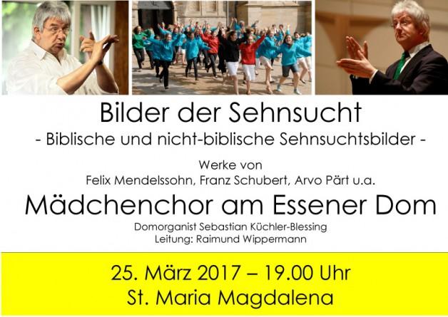 Konzert des Mädchenchores am Essener Dom am 25. März 2017