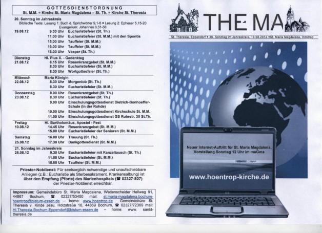 THE-MA zum 20. Sonntag im Jahreskreis (19.08.2012)