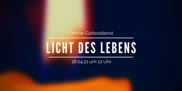 Digitaler Gottesdienst über Zoom am 18.04.2021 mit Gesprächen über eine besondere Kerze, die Menschen als ein Zeichen der Hoffnung erleben.